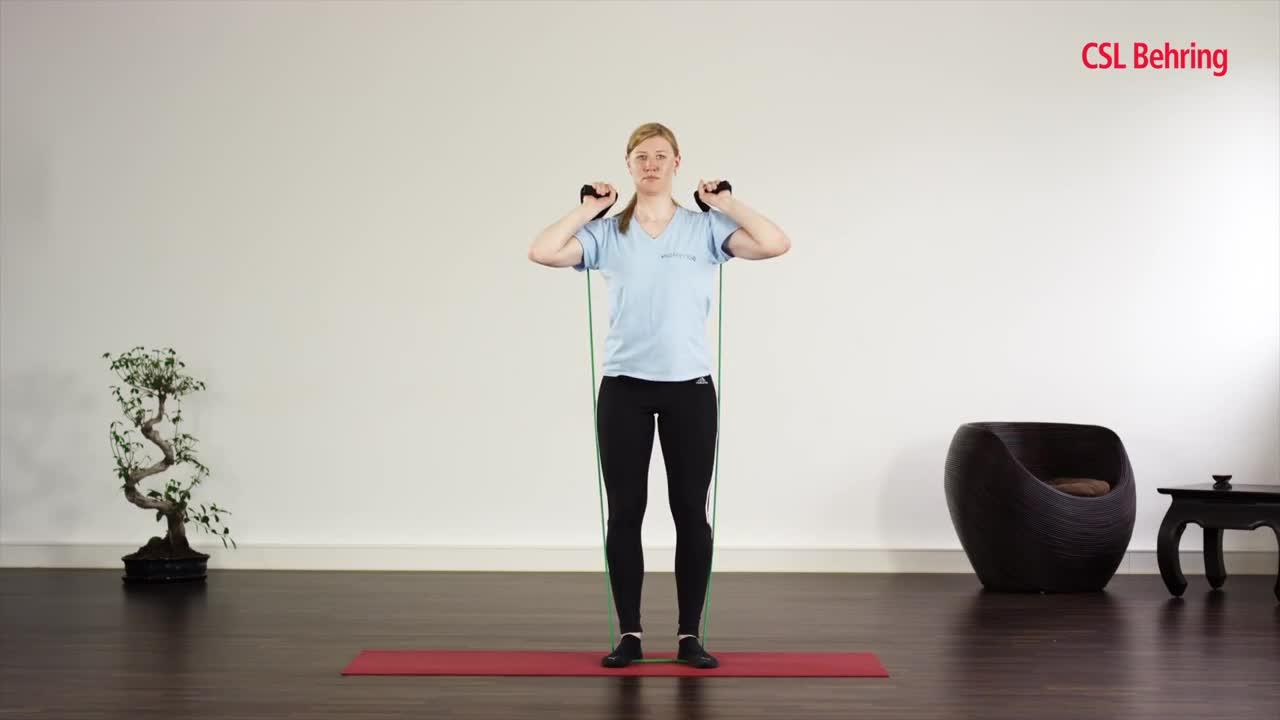 Video:Kräftigungsübungen für Oberschenkel, Gesäß und Nacken